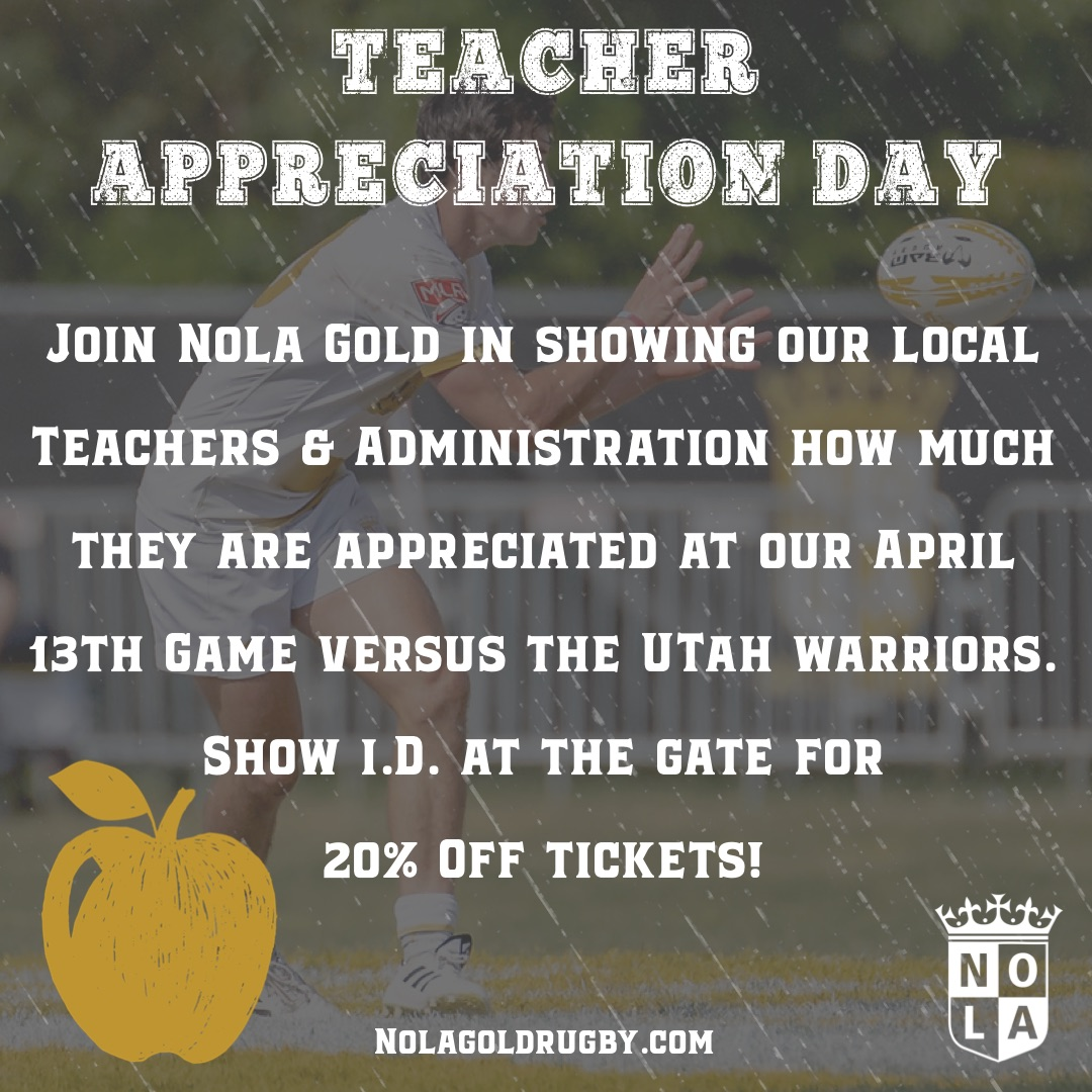 Teacher Appreciation Day at Gold Stadium